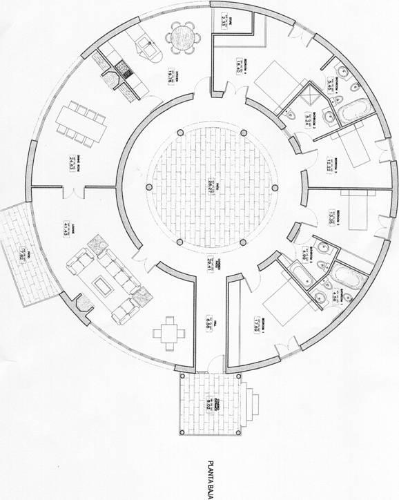 Thoughts gallery for Circular house floor plans
